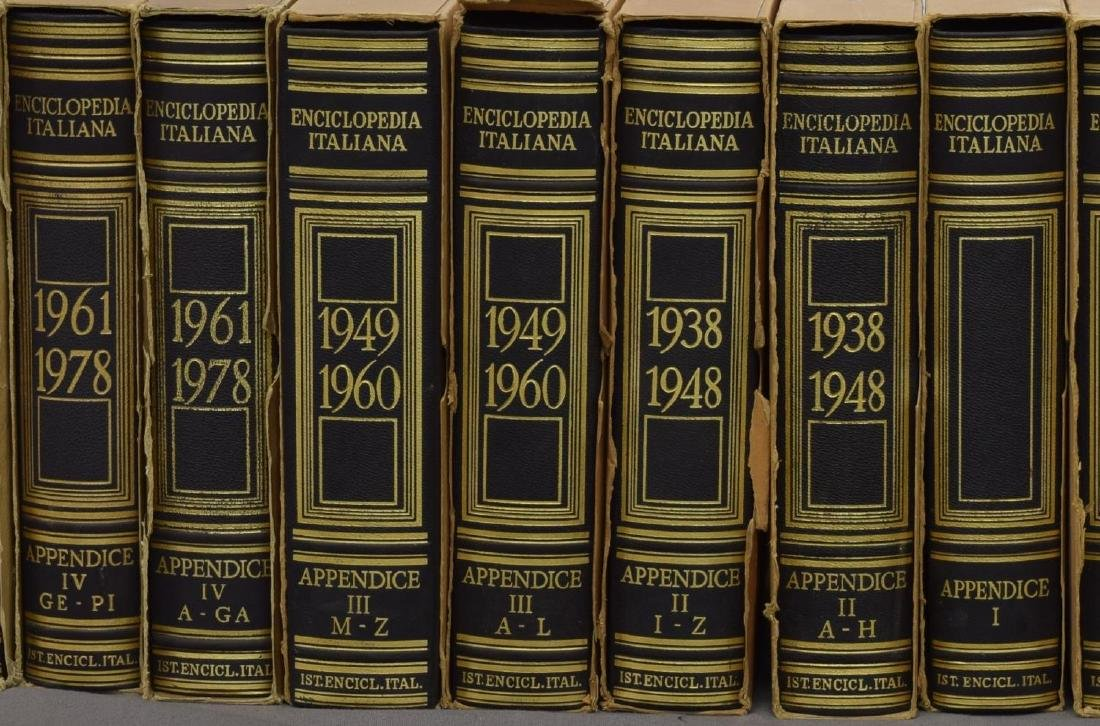 (55) ITALIAN LEATHER BOUND ENCYCLOPEDIAS BOOKS - 3