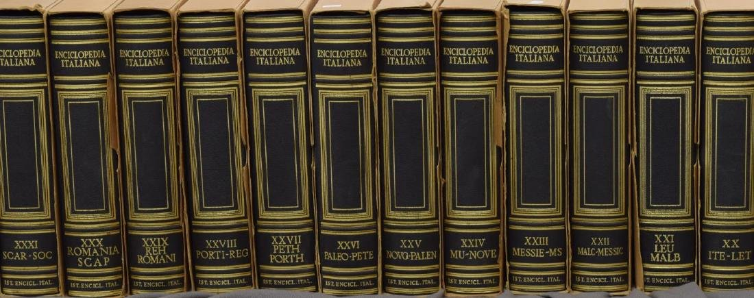 (55) ITALIAN LEATHER BOUND ENCYCLOPEDIAS BOOKS - 4