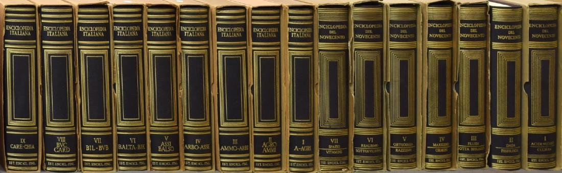 (55) ITALIAN LEATHER BOUND ENCYCLOPEDIAS BOOKS - 5