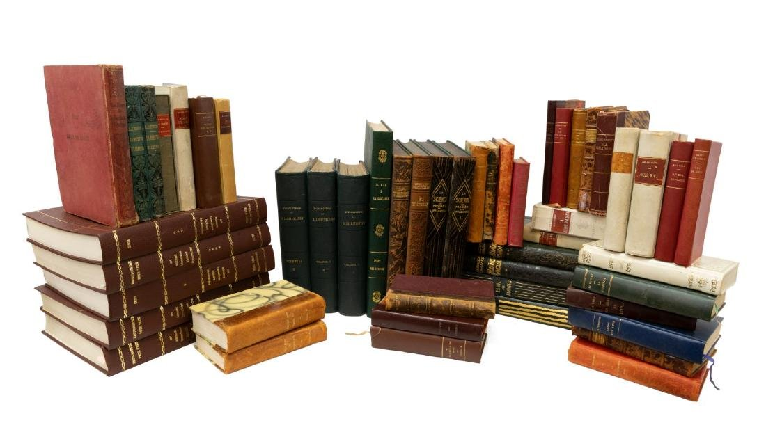 (50) FRENCH HARDCOVER LIBRARY SHELF BOOKS
