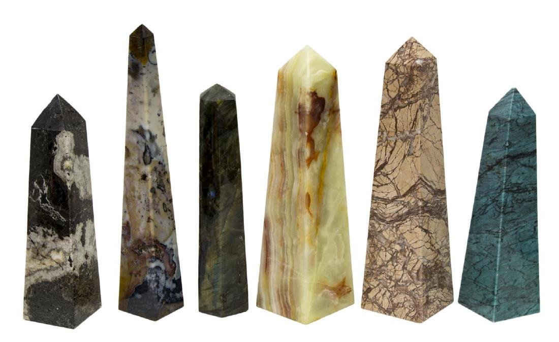 (23) OBELISK COLLECTION, MANY MINERALS & COLORS23 - 2