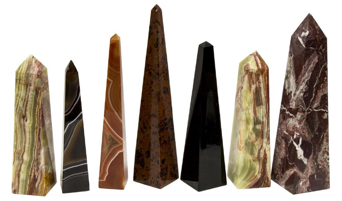 (23) OBELISK COLLECTION, MANY MINERALS & COLORS23 - 3