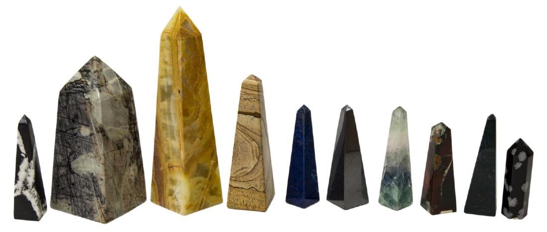 (23) OBELISK COLLECTION, MANY MINERALS & COLORS23 - 4