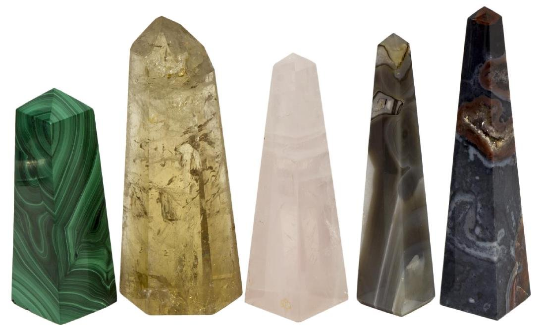 (36) OBELISK COLLECTION, MANY MINERALS & COLORS - 2