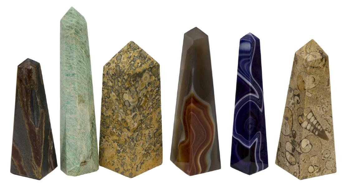 (36) OBELISK COLLECTION, MANY MINERALS & COLORS - 3