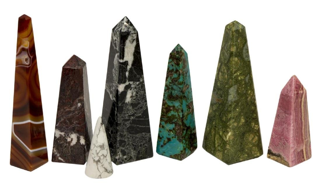 (36) OBELISK COLLECTION, MANY MINERALS & COLORS - 4