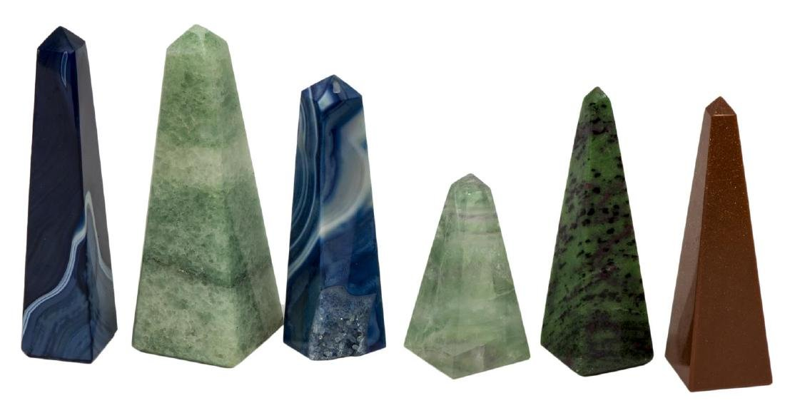 (36) OBELISK COLLECTION, MANY MINERALS & COLORS - 6