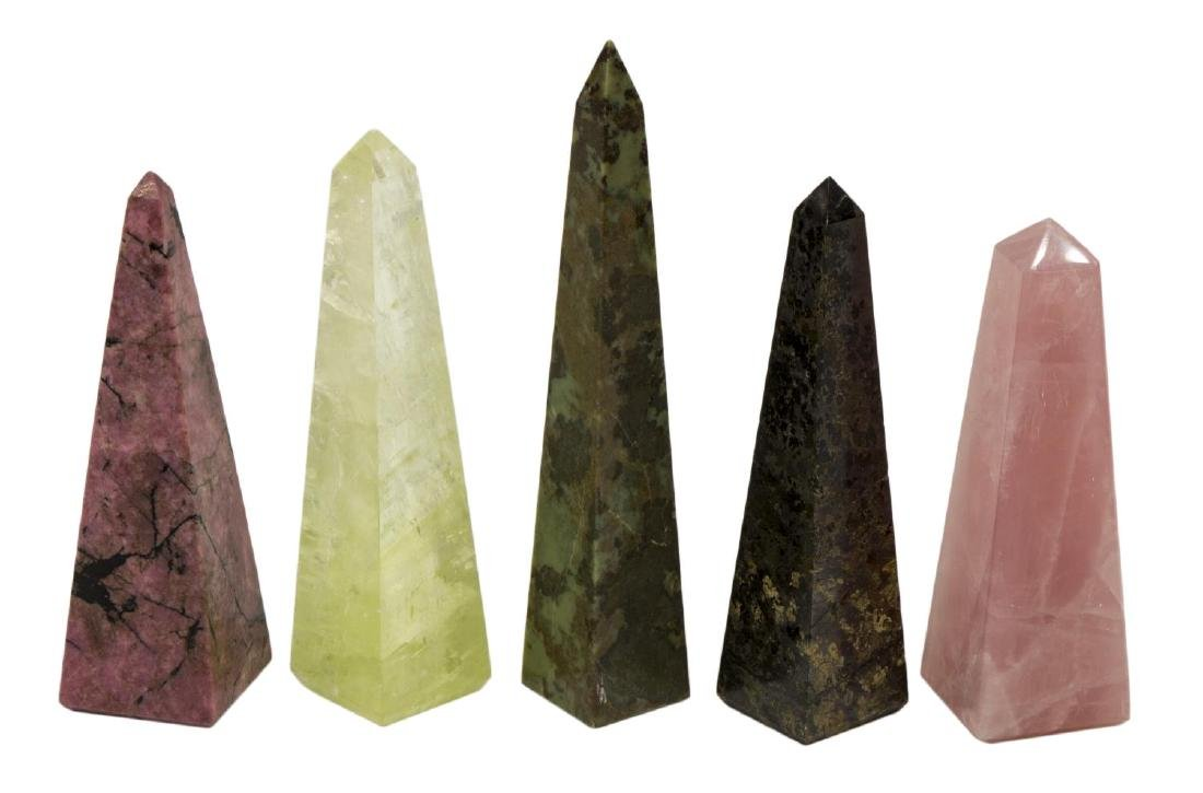 (36) OBELISK COLLECTION, MANY MINERALS & COLORS - 7