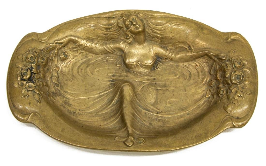 (4) ART NOUVEAU BRONZE DESK ACCESSORIES - 3