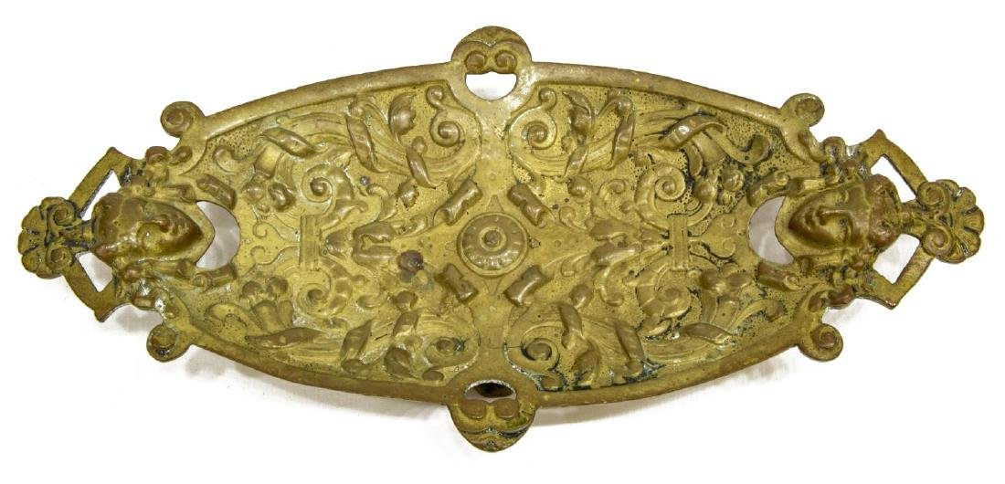 (4) ART NOUVEAU BRONZE DESK ACCESSORIES - 4