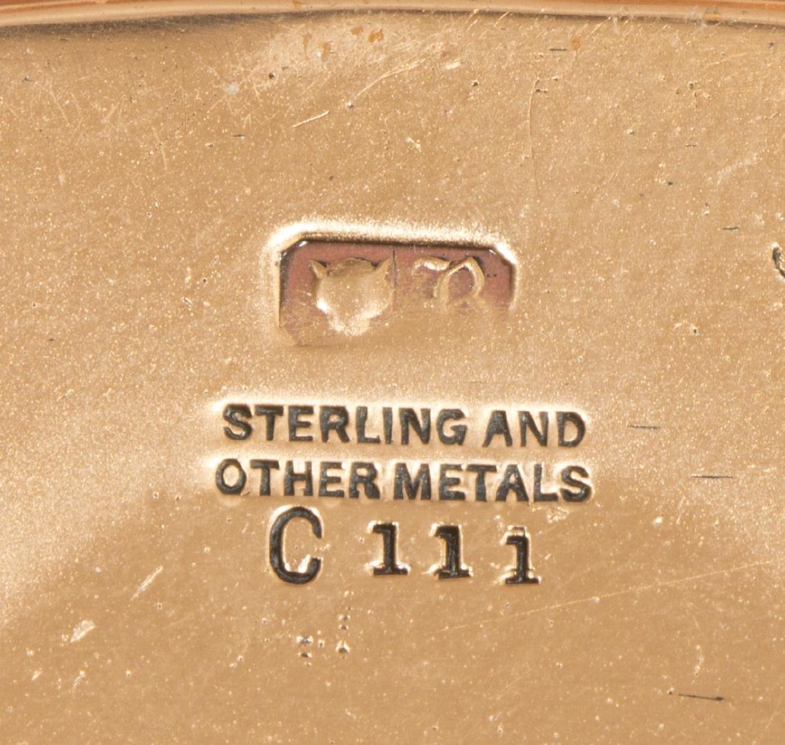(5) ARTS & CRAFTS STERLING & COPPER DESK/SMOKE SET - 4