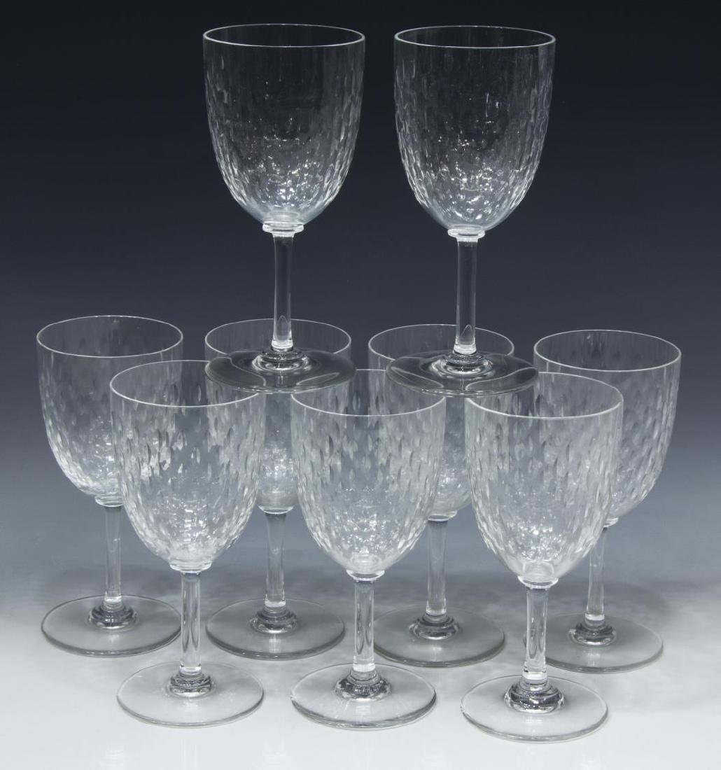 (9) BACCARAT 'PARIS' CRYSTAL TALL WATER GOBLETS