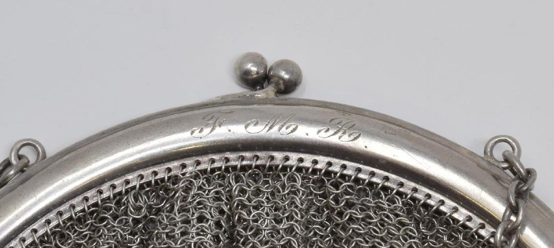 3) WHITING DAVIS & OTHER STERLING SILVER MESH BAGS - 2