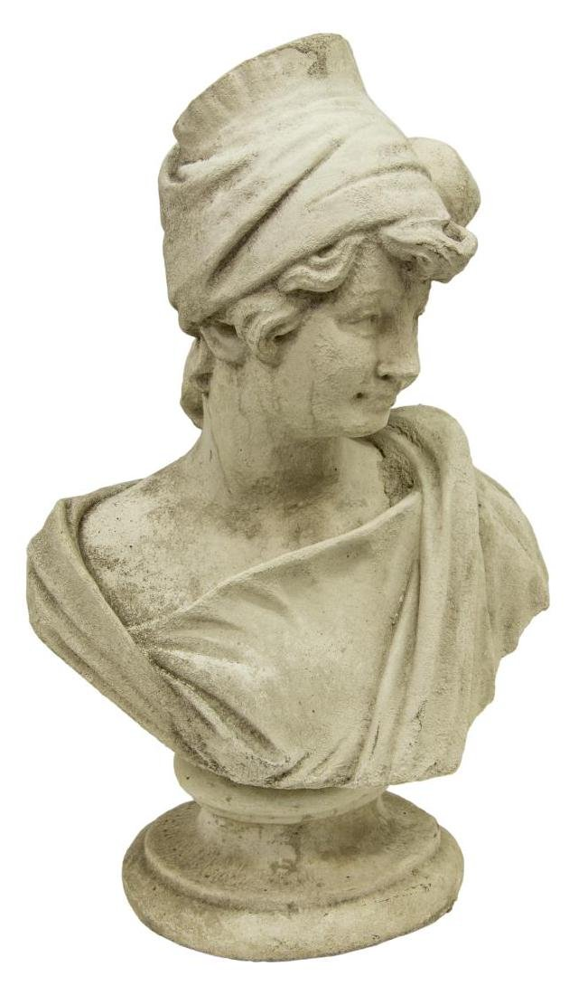CAST STONE BUST OF A LADY