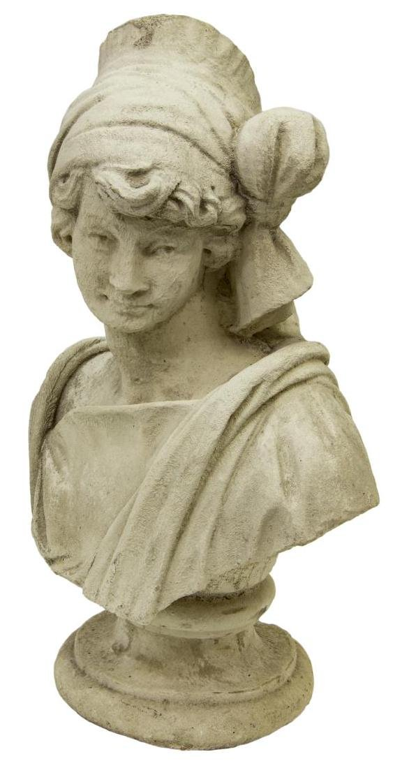 CAST STONE BUST OF A LADY - 2