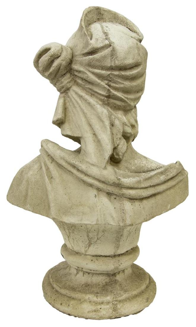 CAST STONE BUST OF A LADY - 3