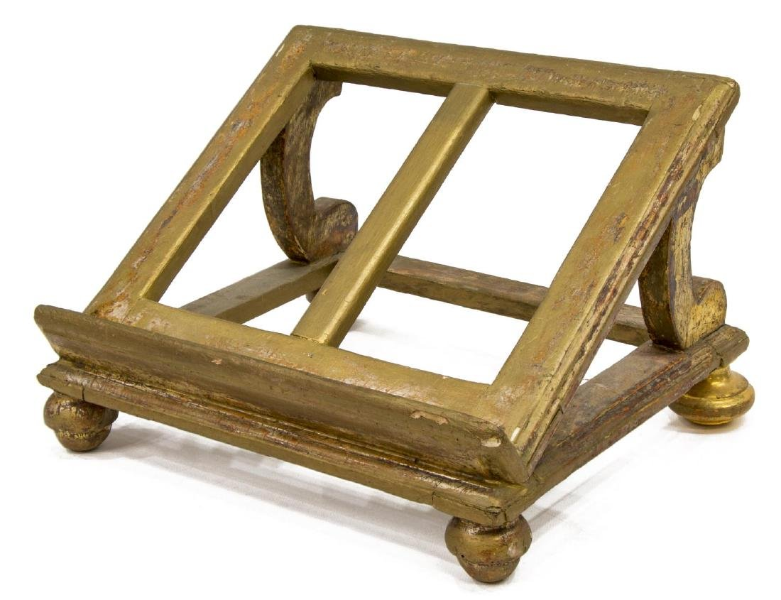 ITALIAN CARVED GILTWOOD BOOKSTAND