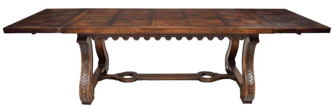 SPANISH BAROQUE STYLE OAK DINING TABLE - 2