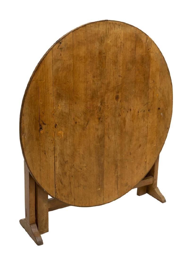 FRENCH OAK & POPLAR TILT TOP WINE TABLE - 2