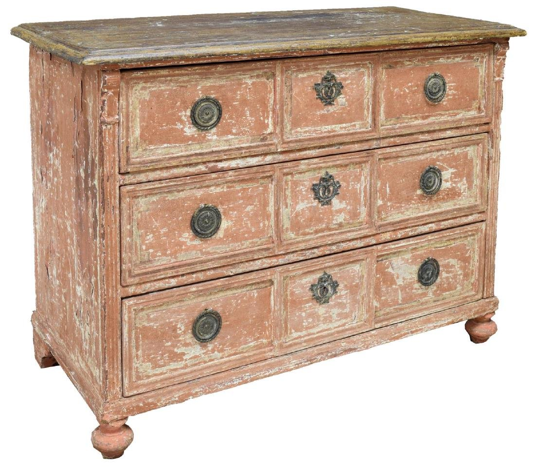 CONTINENTAL CHARLES X STYLE PAINTED COMMODE