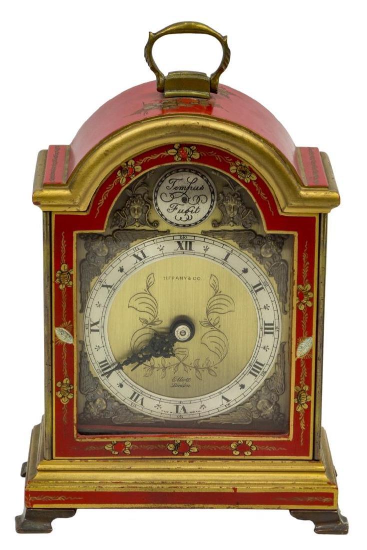 (2)TIFFANY & CO. MINIATURE BRACKET CLOCKS, OPERATE - 2
