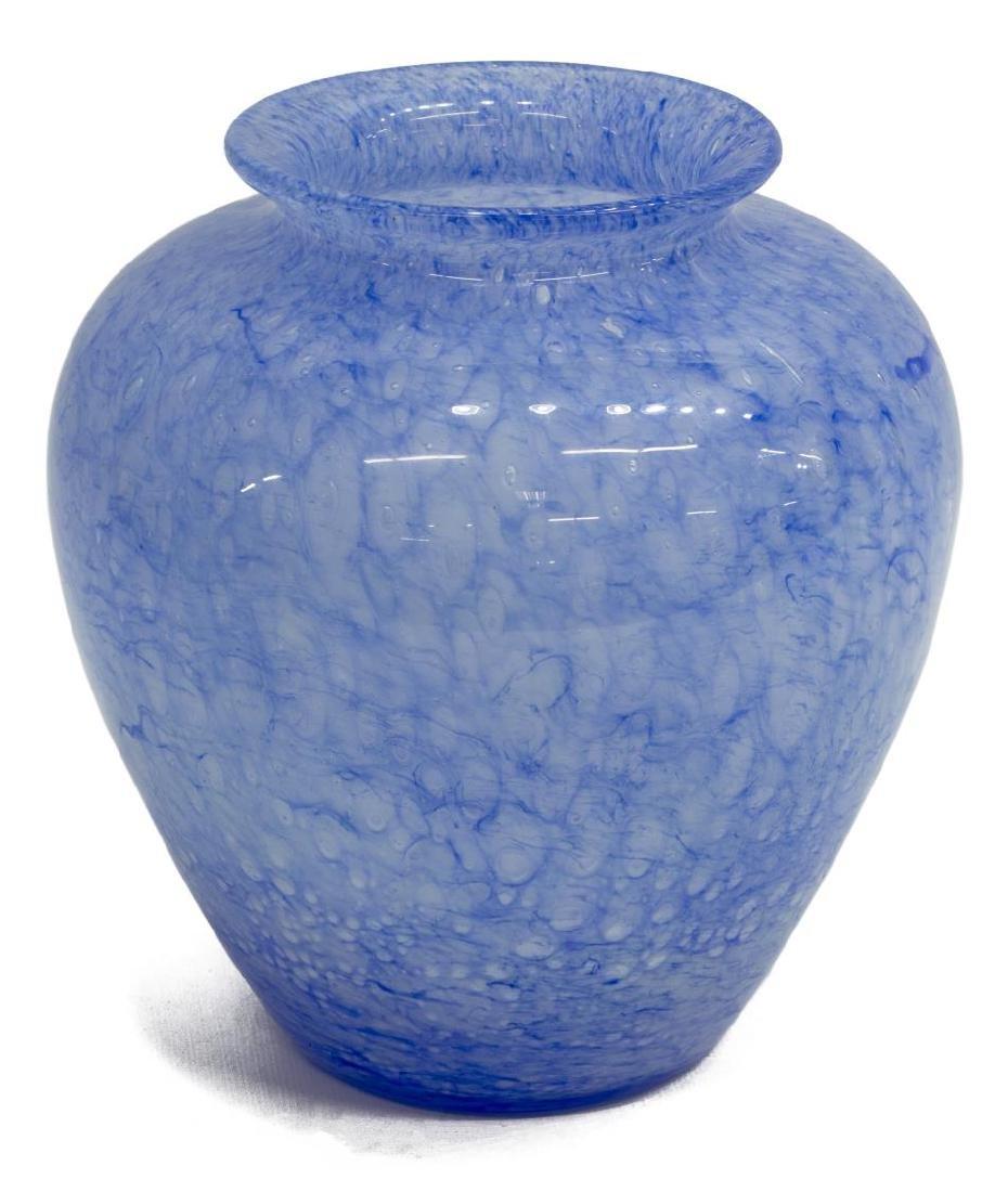 STEUBEN 'CLUTHRA' BLUE ART GLASS VASE