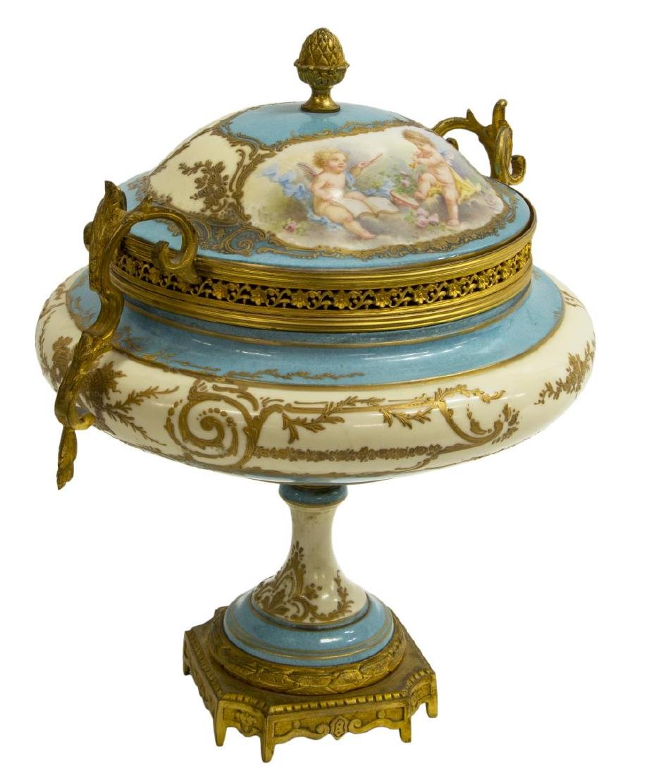 FRENCH SEVRES STYLE PORCELAIN URN SIGNED A. COLLOT