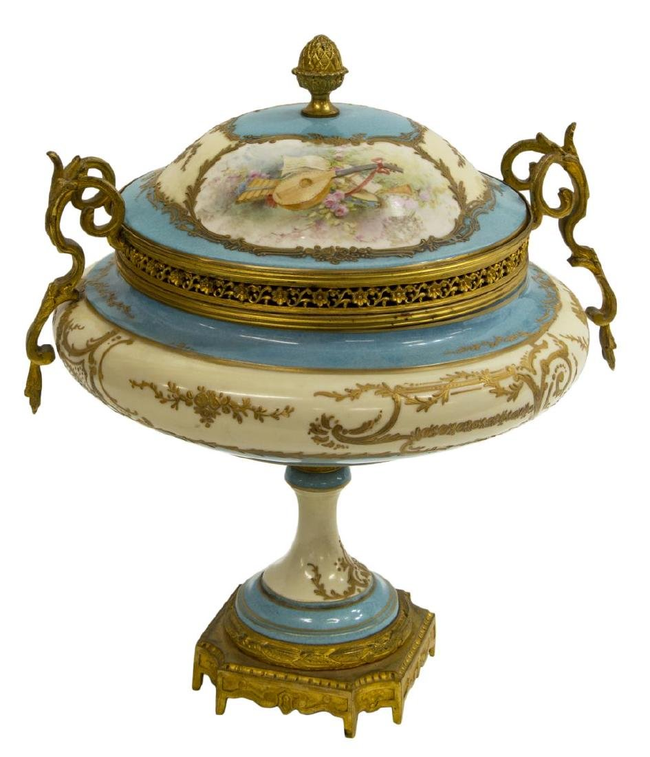 FRENCH SEVRES STYLE PORCELAIN URN SIGNED A. COLLOT - 2