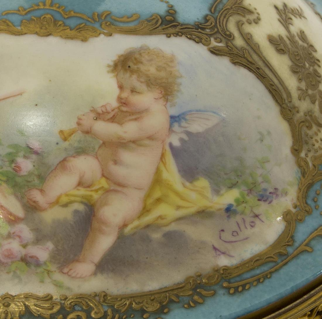 FRENCH SEVRES STYLE PORCELAIN URN SIGNED A. COLLOT - 3