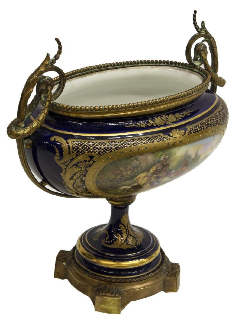 FRENCH SEVRES STYLE PORCELAIN CENTERPIECE