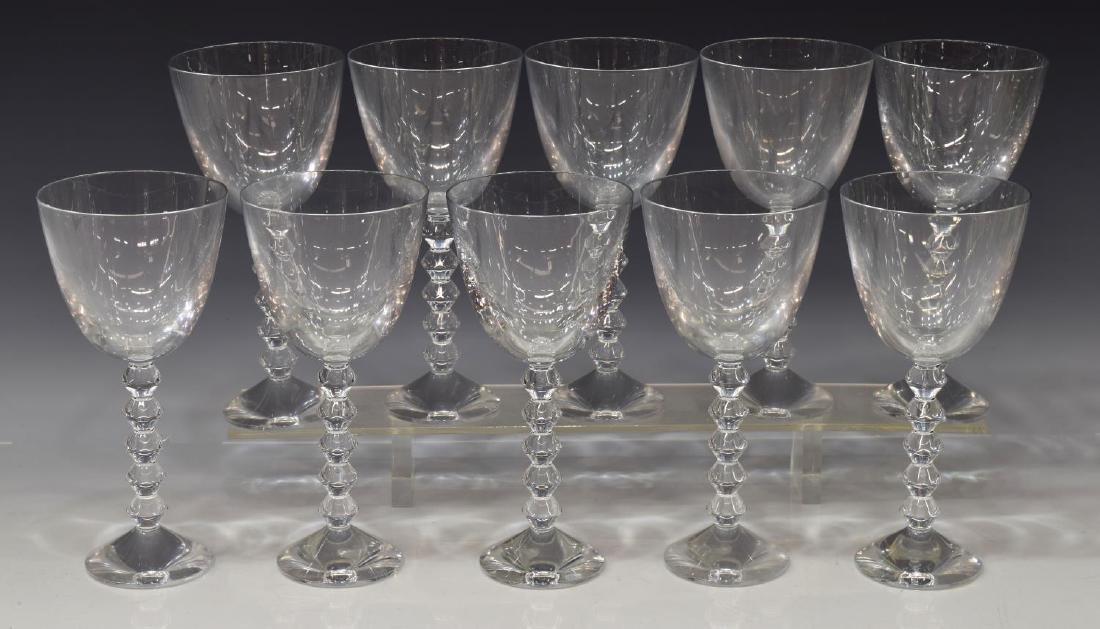 (9) BACCARAT 'VEGA' CRYSTAL CLARET WINE GLASSES