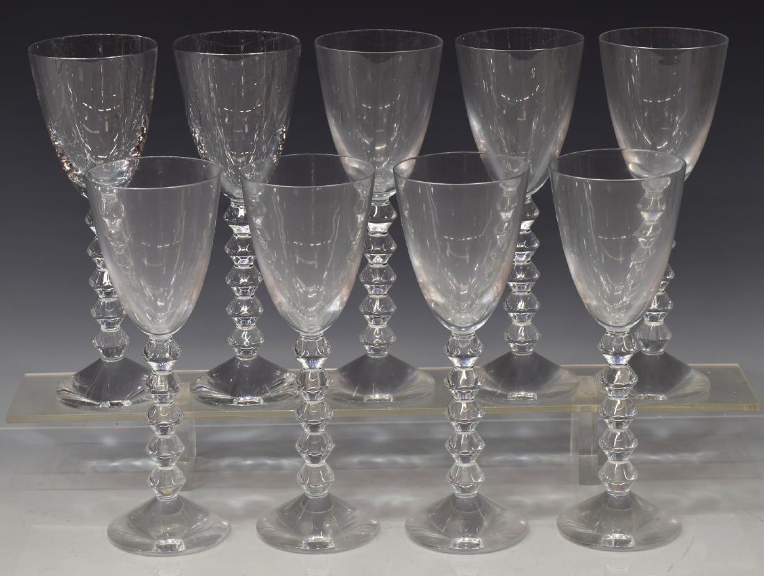 (9) BACCARAT 'VEGA' CRYSTAL RED WINE GLASSES