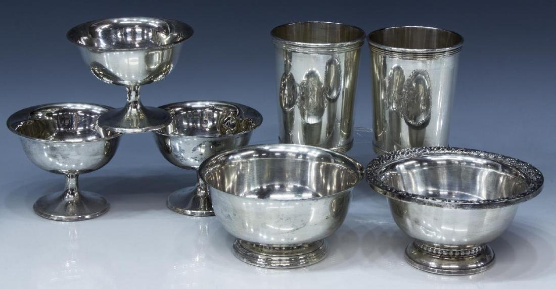 (7) COLLECTION OF STERLING SILVER TABLEWARE