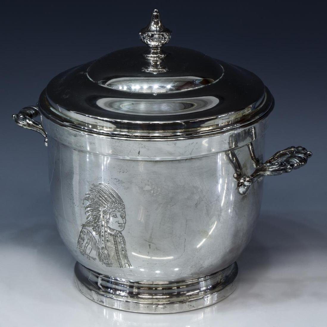 POOLE STERLING SILVER INSULATED ICE BUCKET