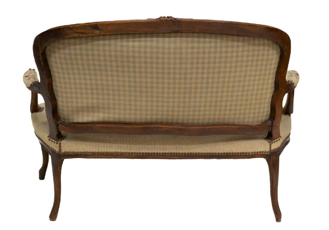 FRENCH LOUIS XV NEEDLE POINT TAPESTRY SETTEE - 3