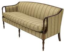 SHERATON STYLE UPHOLSTERED DOWN FILLED SOFA