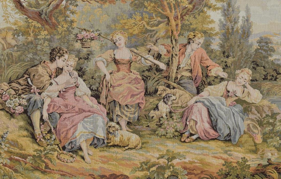 FRAMED CONTINENTAL WALL TAPESTRY OF PASTORAL SCENE - 2