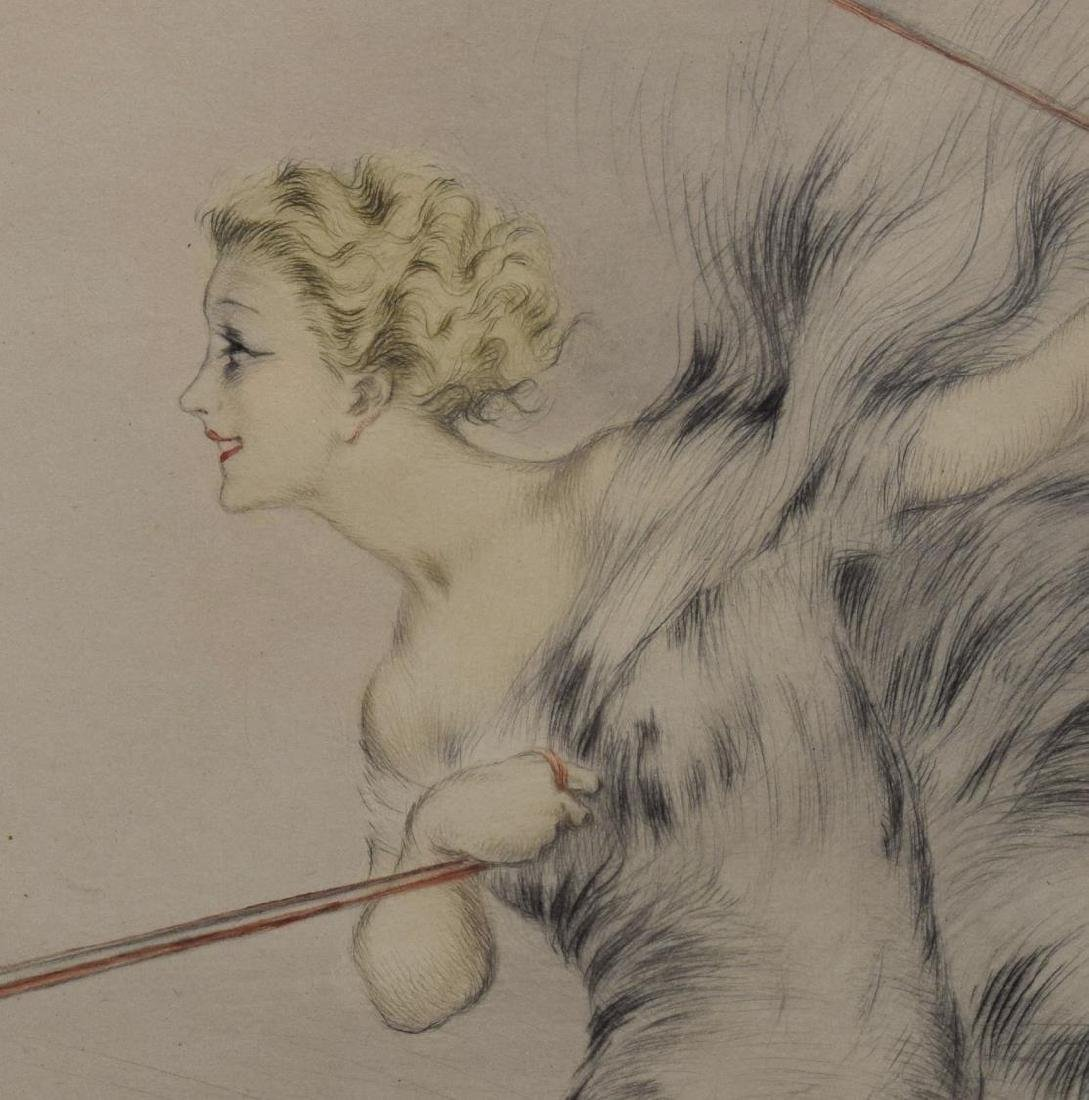 "LOUIS ICART ETCHING, ""UNIQUE VARIATIONS OF SPEED"" - 3"
