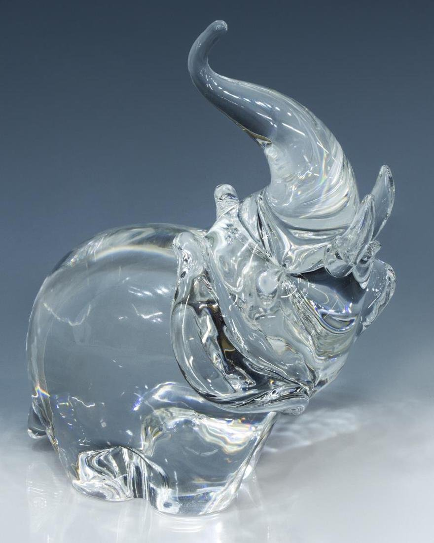 STEUBEN COLORLESS ART CRYSTAL GLASS ELEPHANT