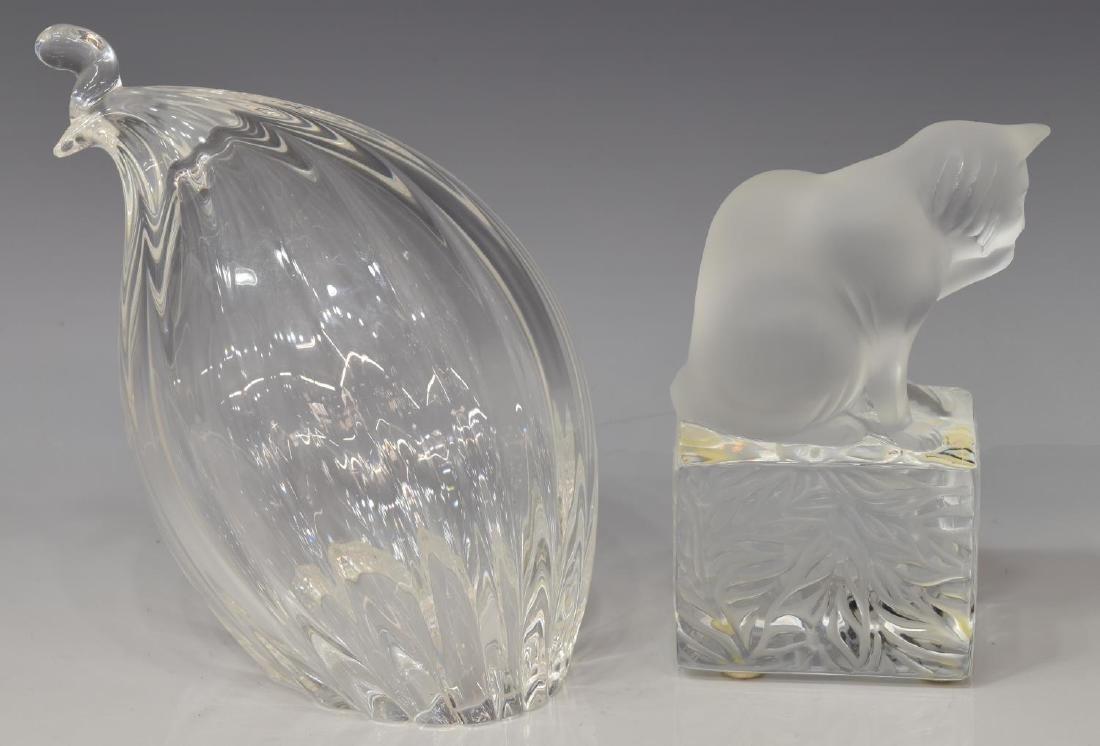(4) LALIQUE, BACCARAT, & STEUBEN ART GLASS FIGURES - 2