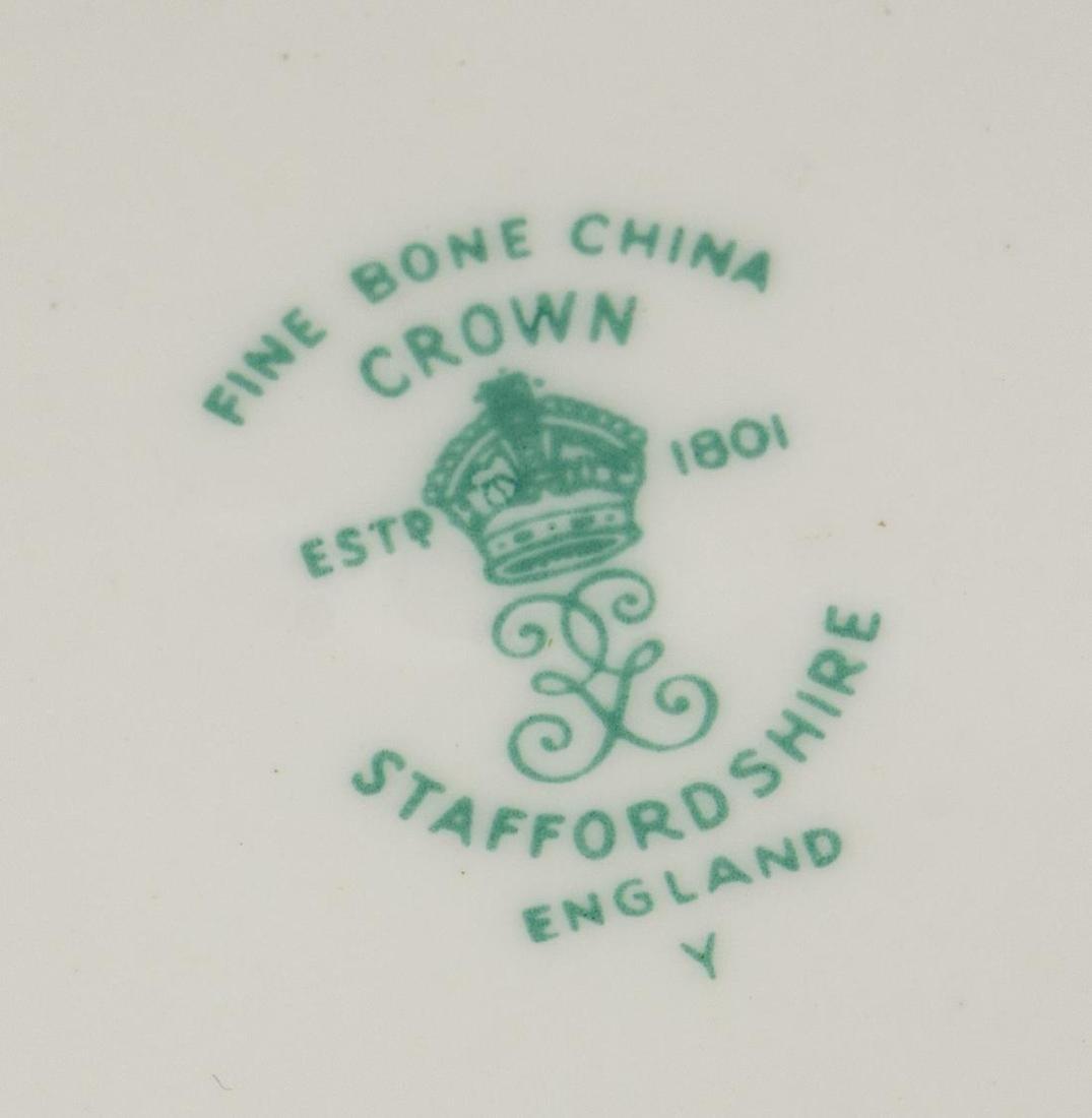 (36) CROWN STAFFORDSHIRE 'LYRIC TUNIS' DESSERT SET - 5