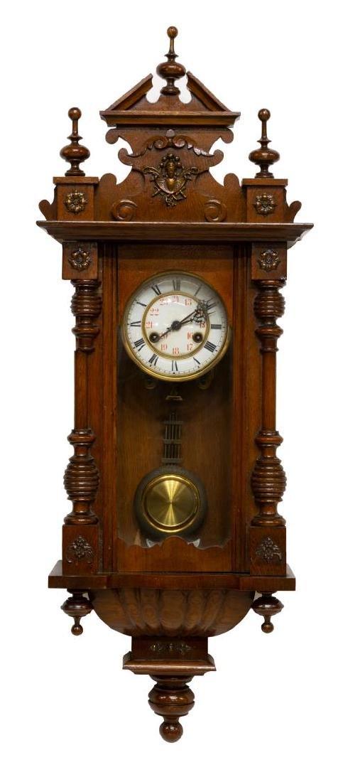 CONTINENTAL REGULATOR MAHOGANY WALL CLOCK