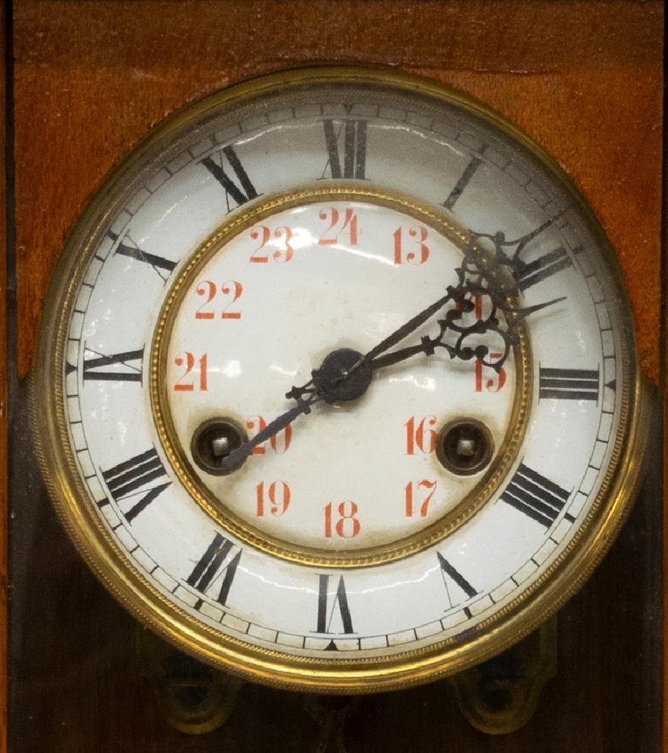 CONTINENTAL REGULATOR MAHOGANY WALL CLOCK - 2