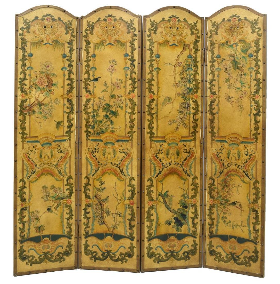 ASIAN FOUR PANEL SCREEN