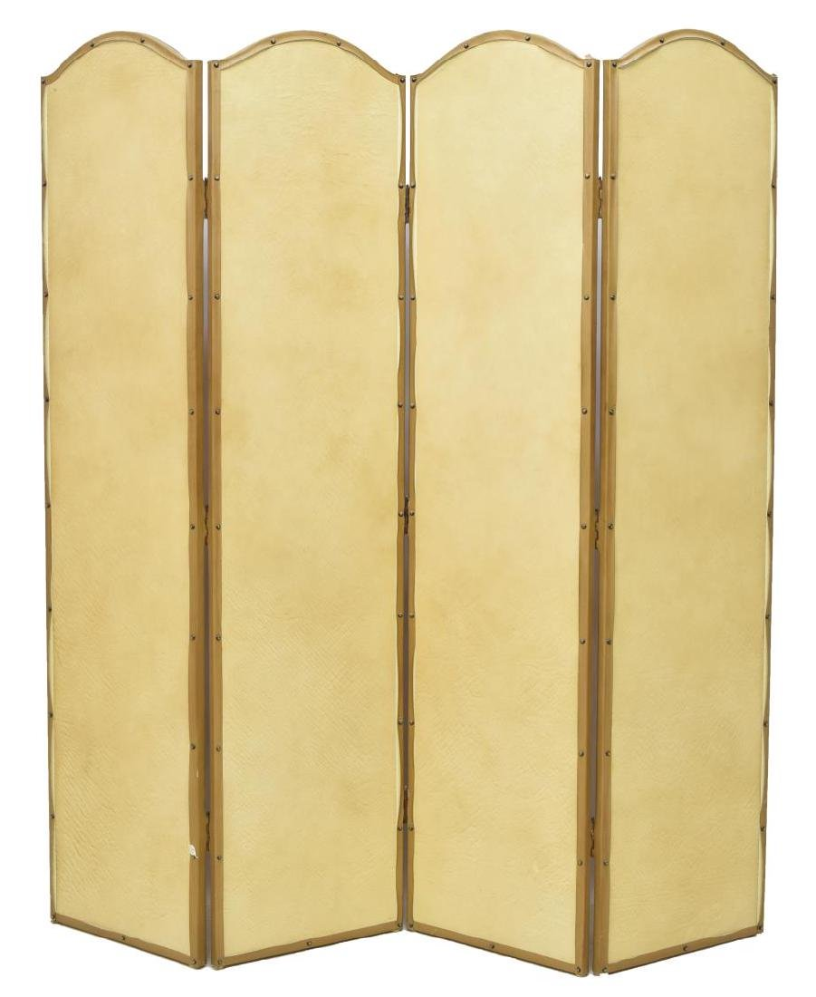 ASIAN FOUR PANEL SCREEN - 3