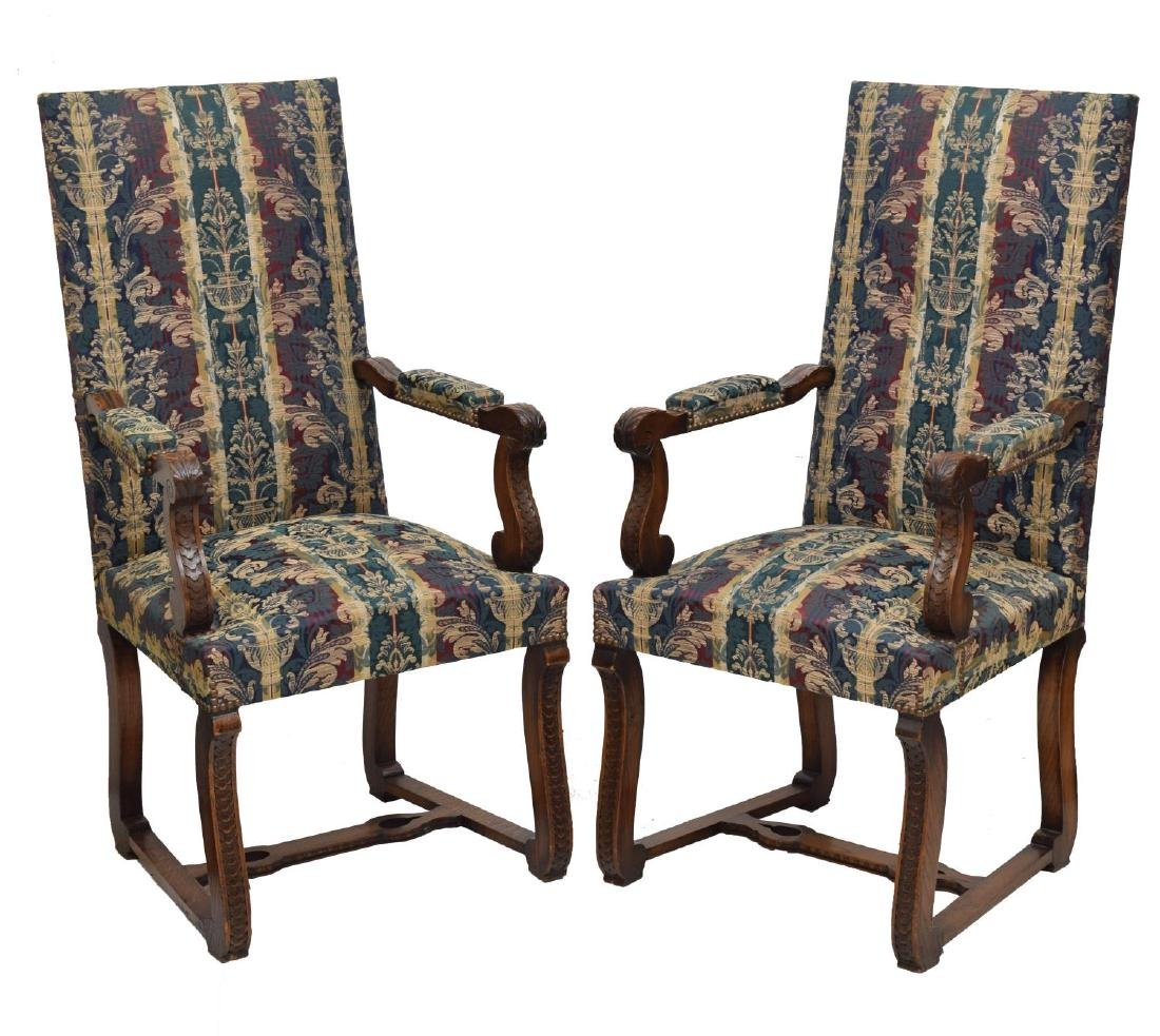 (8) SPANISH BAROQUE STYLE OAK DINING CHAIRS - 2