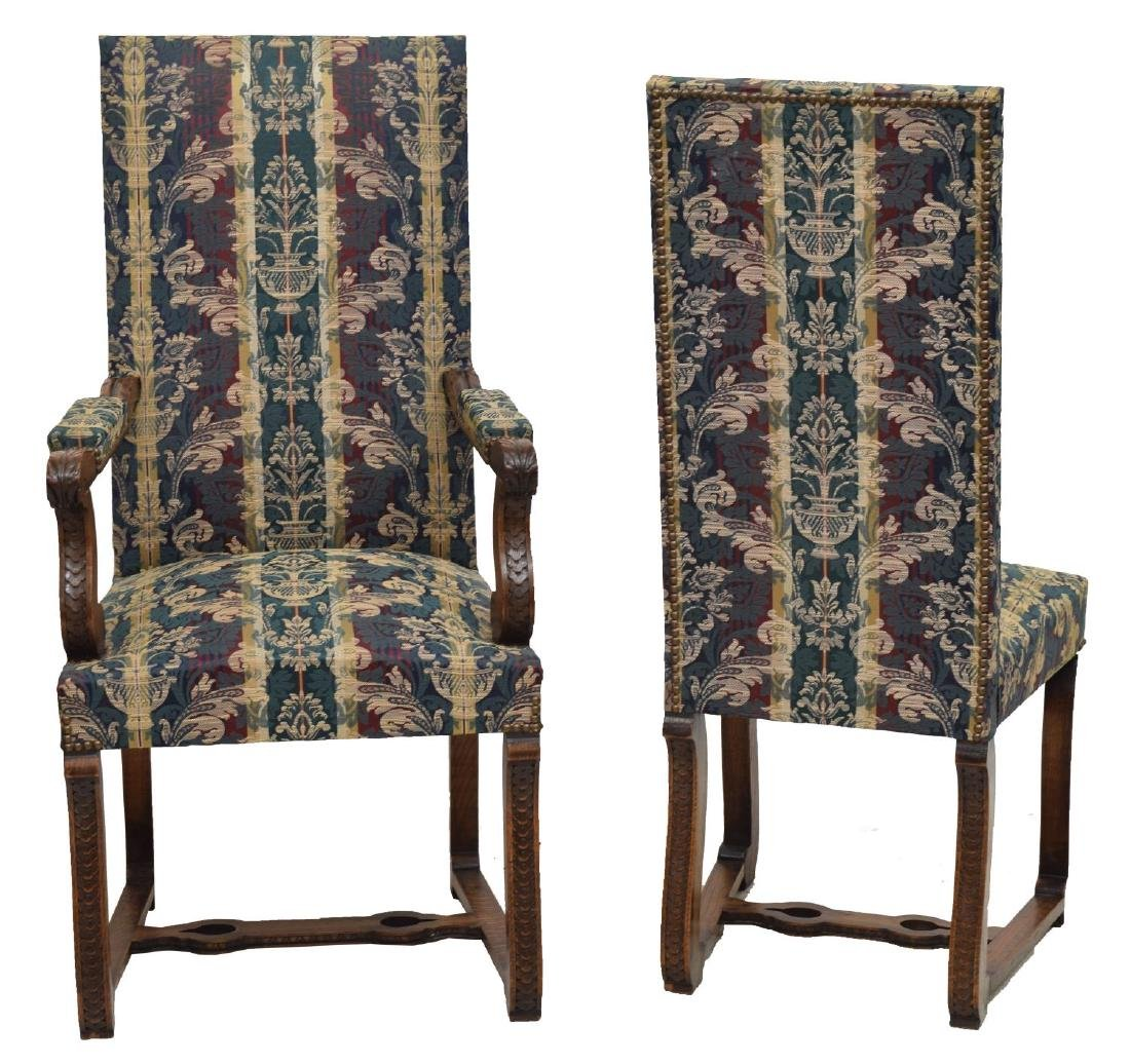 (8) SPANISH BAROQUE STYLE OAK DINING CHAIRS - 3