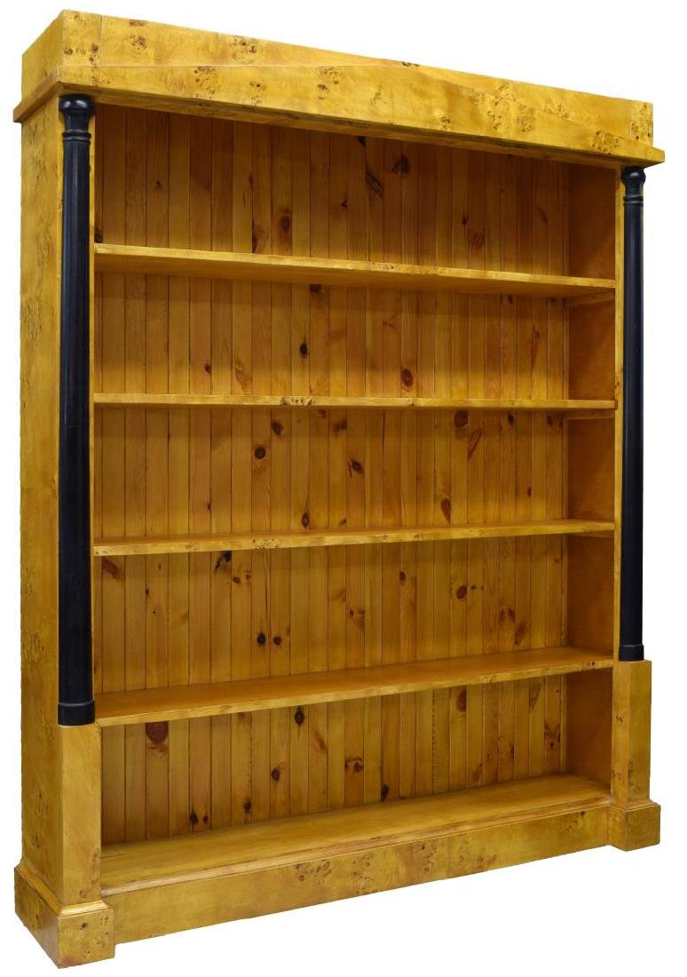 DANISH BIEDERMEIER BURLED BIRCH BOOKCASE