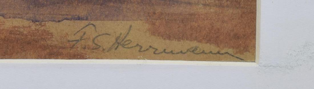 FRANK HERRMANN (NY, 1866-1942) NAPLES PAINTING - 3