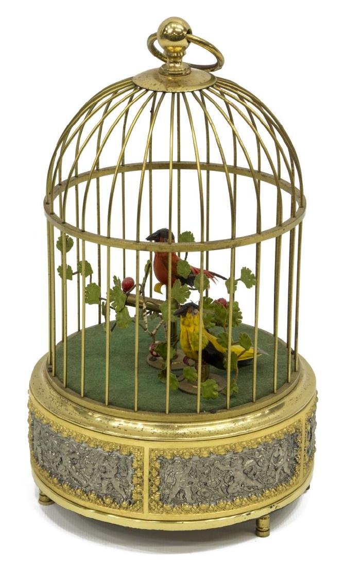 AUTOMATON SINGING BIRDS IN CAGE - 2